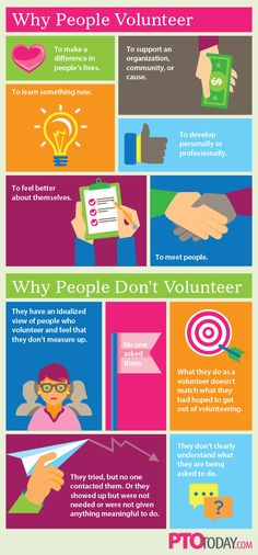 At a glance: Why people do -- and don't -- volunteer.   #pto #pta