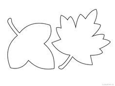 podzimní listy - šablony