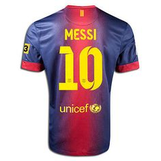 NIKE FC BARCELONA MESSI YOUTH HOME JERSEY 2012/13 TV3 LOGO.