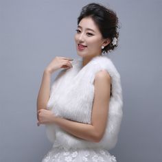 KAKA(TM) Gorgeous Winter Bridal Wedding Dress Wrap Artificial Plush Shawl-White | Winter Wedding Ideas *** Find out more about the great product at the image link. (This is an affiliate link) #WinterWeddingIdeas