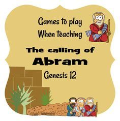 Jesus Without Language:  Free Kid's Ministry & Sunday School Resources | Abram (Genesis 12) | Play - July 6 - Abraham (Blind Directions)