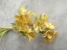 Vintage 1950's millinery flower Sweet Yellow bunch shabby