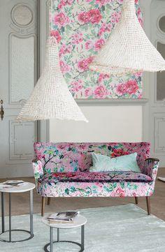 www.insideyourhome.co inspiration for living room Designers Guild Adelphi sofa in Jichang velvet