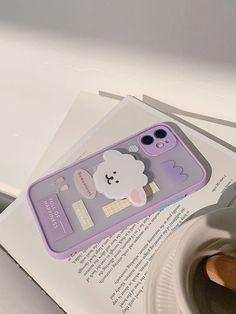 Purple iPhone Cases With Cute Pop Socket