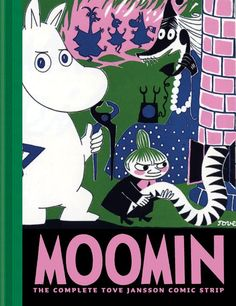 The Moomins are the central characters in a series of books and a comic strip by Swedish-Finn illustrator and writer Tove Jansson, originally published in Swedish by Schildts[2] in Finland.  They are a family of trolls who are white and roundish, with large snouts that make them resemble hippopotamuses.  The carefree and adventurous family live in their house in Moominvalley, in the forests of Finland, though in the past their temporary residences have included a lighthouse and a theatre.