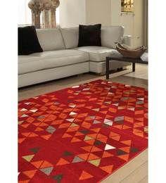 Buy Ambadi Nova Red Polypropylene Modern Carpet Online - Geometric Patterns - Furnishings - Home Decor - Pepperfry Product Carpets Online, House Entrance, Patterned Carpet, Modern Carpet, Red Carpet, Nova, Room Decor, Flooring, Living Room