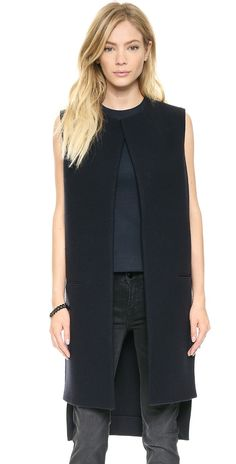 Victoria Beckham Sleeveless Coat Vest | SHOPBOP