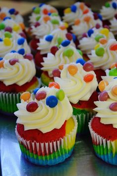 Skittles Cupcakes - Making these for Ke Asa's last day at Fifth Third! She loves candy :)