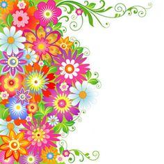 vectores florales de colores - Buscar con Google
