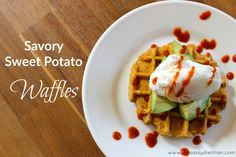 15 Healthy Waffle Recipes for Waffle Day Waffle Day, Waffle Iron, Ghee Butter, Sweet Potato Waffles, Waffle Recipes, Dietitian, Food Items, Cheddar Cheese, Baking