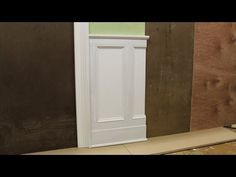 Tips on designing and installing chair rail and panel molding by Jon Peters - YouTube