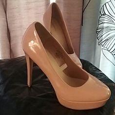 Fawn colored platform heels Phone flash beige platform heels Shoes Heels