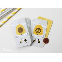 An exciting way to award prizes at your baby shower or party! Guests scratch off the special coating to find one of three winning cards which are marked with a