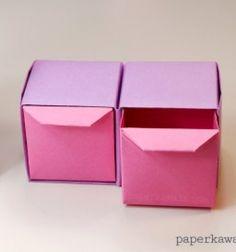 Origami pull out drawers (paper folding) // Mini origami fiókos rendszerezők (papírhajtogatás) // Mindy - craft tutorial collection