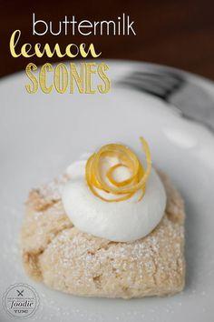 Buttermilk Lemon Scones | Self Proclaimed Foodie