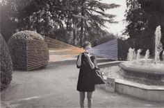 Maria Aparicio Puentes sews on other peoples photographs
