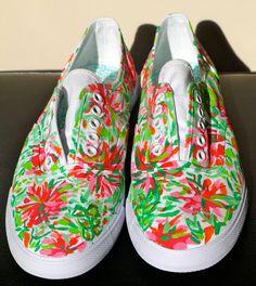 Women's HandPainted Custom Canvas Tennis Shoes by taylorrr1211, $35.00