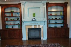 Awesome Built In Bookcases Design ~ http://lovelybuilding.com/pretty-built-in-bookcases/