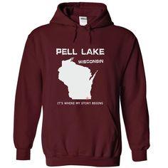 Pell Lake WI3X T-Shirts, Hoodies. GET IT ==► https://www.sunfrog.com/LifeStyle/Pell-Lake-WI3X-6129-Maroon-41196557-Hoodie.html?id=41382