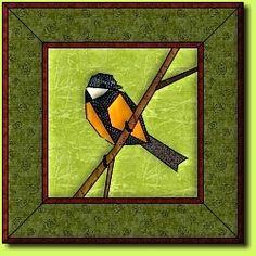 Kohlmeise by Regina Grewe, Denmark - paper pieced bird pattern