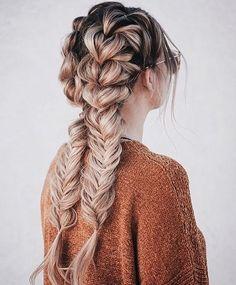 Pull through braid to fishtail