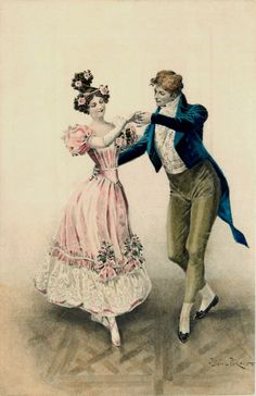 Lionel Peraux (1871 - ?) - A couple dancing