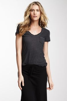 James Perse  Short Sleeve Casual Pocket Tee