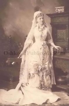 Wedding gown from the late 19th century. (Oshkosh Public Museum)