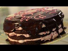 Chocolate Ganache Cake: How to Make w/ Strawberry Frosting || KIN EATS