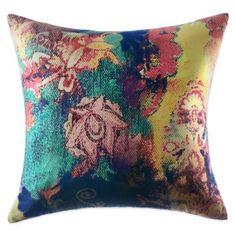 Tracy Porter® Poetic Wanderlust® Willow Printed Velvet Square Throw Pillow - BedBathandBeyond.com
