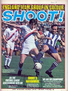 Shoot! magazine in July 1980 featuring Brighton v. Crystal Palace on the cover. Crystal Palace Fc, Magazine Front Cover, English Football League, We Are The Champions, Football Memorabilia, Brighton & Hove Albion, Everton Fc, Football Shirts, Liverpool