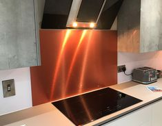 Copper brushed aluminium composite sheet cut to your size requirements. Design Elements, Kitchen Ideas, Composition, Copper, Plastic, Home, Elements Of Design, Ad Home, Brass