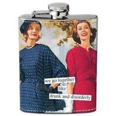 Drunk and Disorderly Hip Flask #friends
