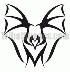 Bat 1 tattoo design