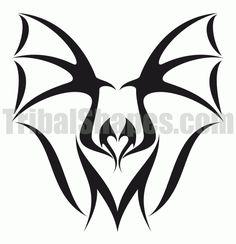Bat 1 tattoo design