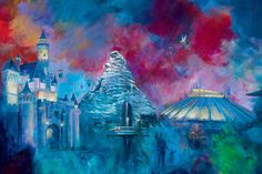"""Disneyland's 50th"" by Harrison Ellenshaw 