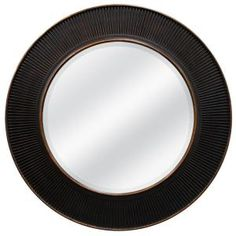 30 in. x 30 in. Valencia Circle Framed Mirror in Oil Rubbed Bronze-73866 at The Home Depot