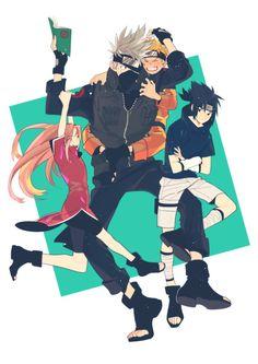 All Things Kakashi Anime Naruto, Naruto And Sasuke, Naruto Team 7, Naruto Fan Art, Kakashi Sensei, Naruto Comic, Naruto Cute, Naruto Funny, Sakura And Sasuke