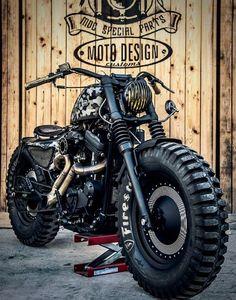 Harley Davidson Sportster 48 by moto design customs Vintage Cafe Racer, Motorcycle Wheels, Scrambler Motorcycle, Moto Bike, Motorcycle Trailer, Girl Motorcycle, Motorcycle Quotes, Motorcycle Outfit, Car Wheels