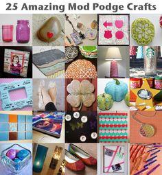 25 Amazing Mod Podge Crafts #crafts #diy #modpodge