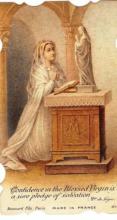 Prayer card of Our Lady