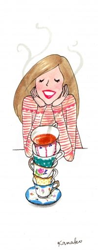 Tea love, it's tea time!! Another easy sketch to turn into embroidery image.