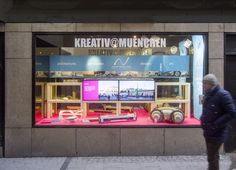Andreas Vogler Studio dresses show window in the Heart of Munich! - One week left! The window will be on display until the end of the Munich Creative Business Week MCBW! Andreas Vogler Studio is exhibiting a selections of their work as designers,