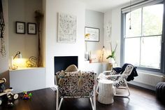 Clever design ideas for making small living rooms appear much, much bigger. See all our small living room pictures on HOUSE - design, food and travel by House & Garden. Tiny Living Rooms, Bohemian Living Rooms, Small Living Room Design, Cozy Living, Living Room Designs, Living Room Decor, Salons Cosy, Up House, Living Room Pictures