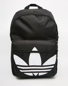 Adidas adidas Originals Classic Backpack in Black Adidas Backpack ce51f494af3c0