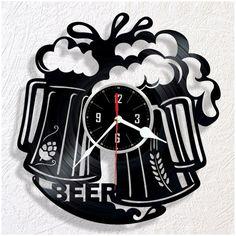 BEER vinyl wall clock