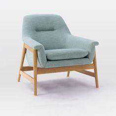 Theo Chair, Yarn Dyed Linen Weave, Seafoam (Natural Oak Legs)