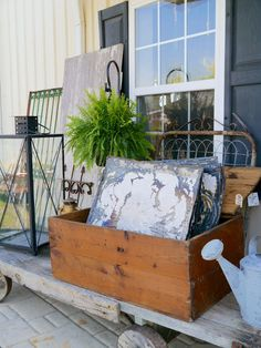 Rust and Feathers: Inside and Outside Decor