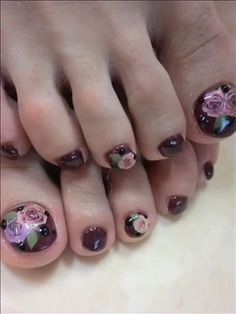 New Season Pedicure Nail Art Ideas Flower Pedicure, Pedicure Nail Art, Flower Nail Art, Toe Nail Art, Pedicure Ideas, Crazy Nail Art, Crazy Nails, Hot Nails, Hair And Nails