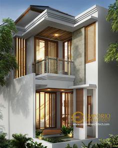 saya mintak dena rmh in 3 Storey House Design, House Front Design, House Design Photos, Cool House Designs, Modern Window Design, Modern House Design, Villa Design, Style At Home, Classic House Exterior